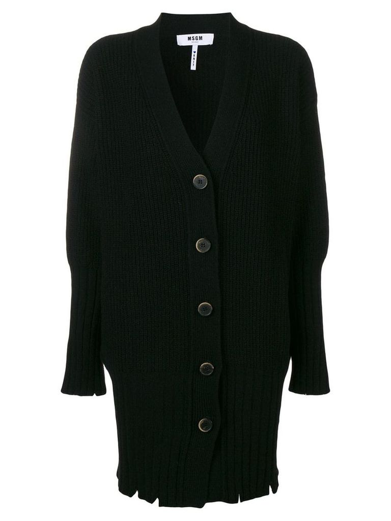 MSGM oversized cardi-coat - Black
