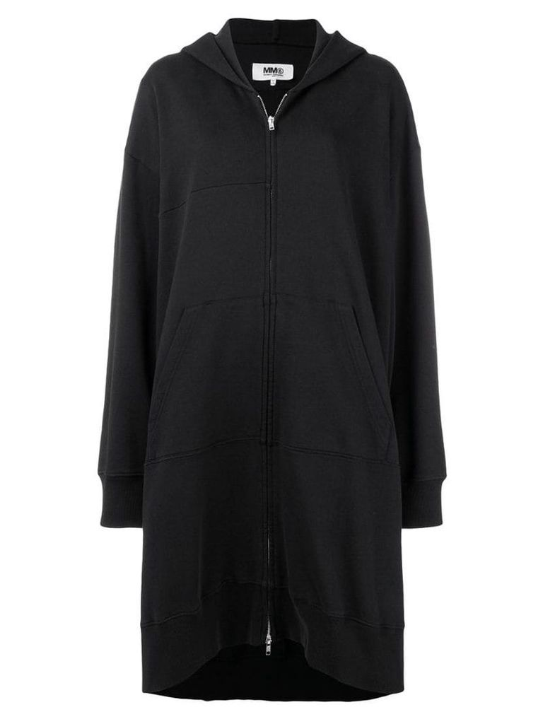 Mm6 Maison Margiela draped hoodie-style coat - Black