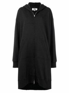 Mm6 Maison Margiela draped hoodie-style coat - Black