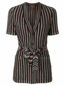 Missoni striped shortsleeved cardigan - Multicolour