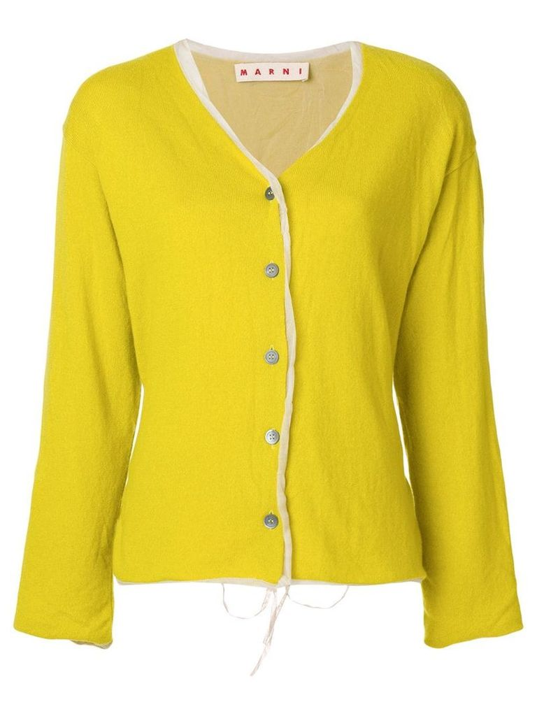 Marni relaxed fit cardigan - Yellow