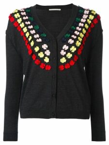 Marco De Vincenzo bow embellished cardigan - Grey