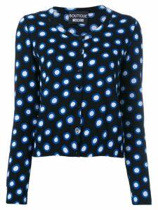 Boutique Moschino spot print cardigan - Black