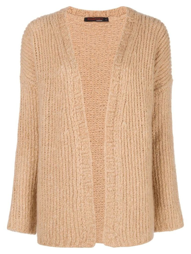 Incentive! Cashmere open front cardigan - Neutrals