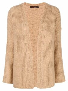Incentive! Cashmere open front cardigan - Neutrals