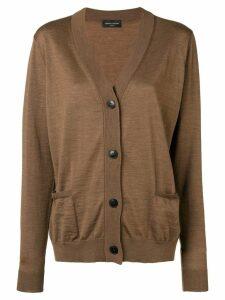 Roberto Collina V-neck button cardigan - Brown