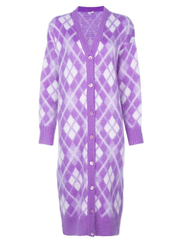 Miu Miu knitted cardigan - Purple