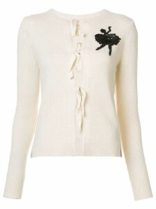 Marc Jacobs cashmere sequinned ballerina cardigan - White