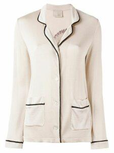 Laneus knit cardigan blazer - Neutrals