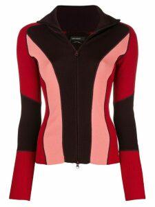 Isabel Marant Laddie colouirblock cardigan - Red