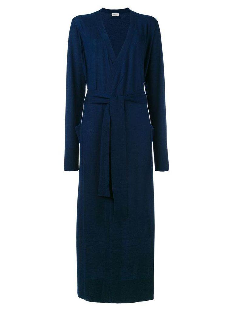 Le Kasha cashmere long belted cardigan - Blue