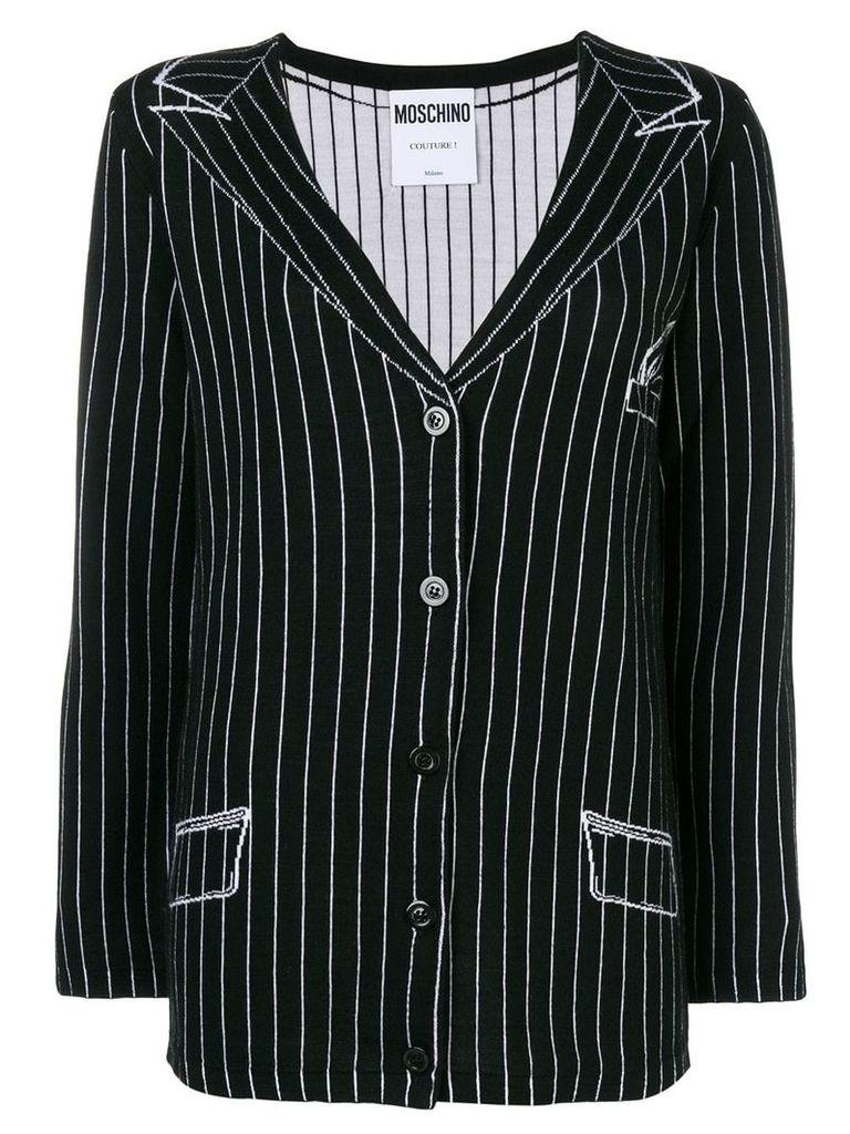 Moschino blazer knit cardigan - Black