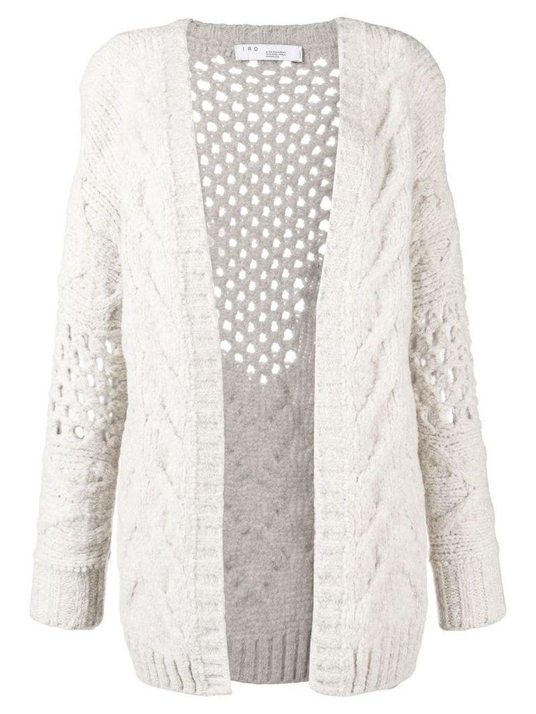 Iro chunky knitted cardigan - Neutrals