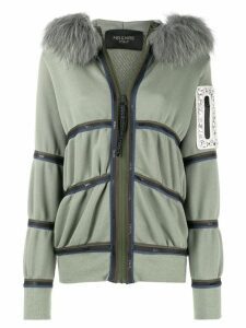Mr & Mrs Italy trimmed hooded cardigan - Green