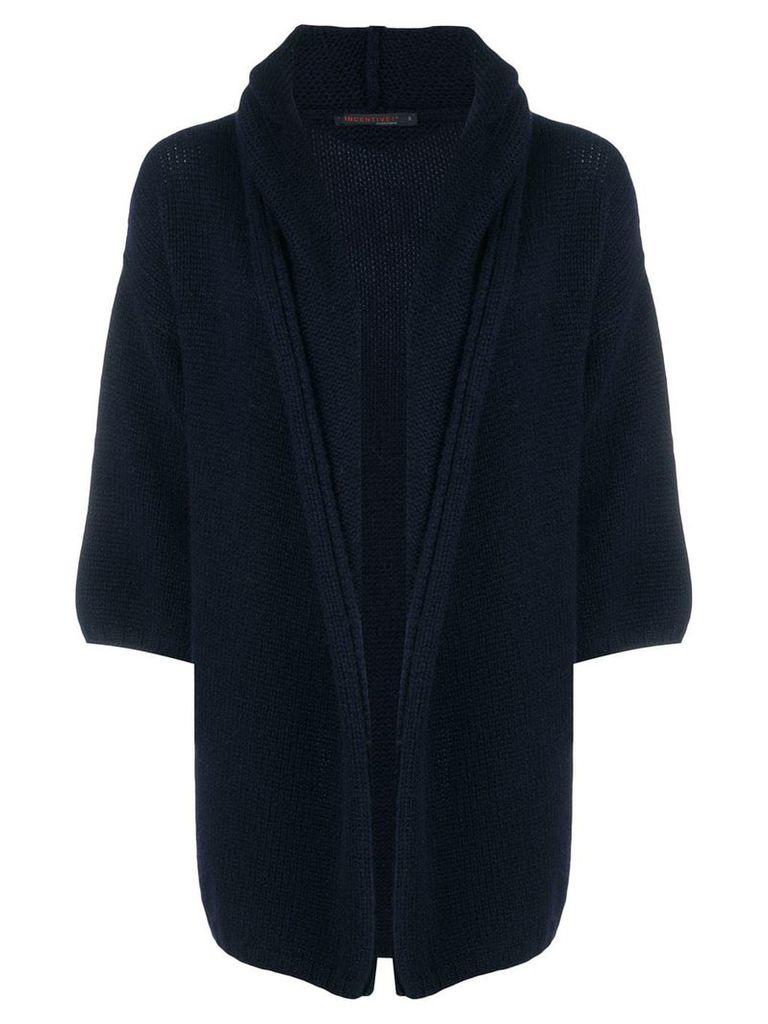 Incentive! Cashmere cashmere chunky cardigan - Blue
