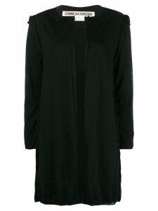 Comme Des Garçons raw seam long-line cardigan - Black