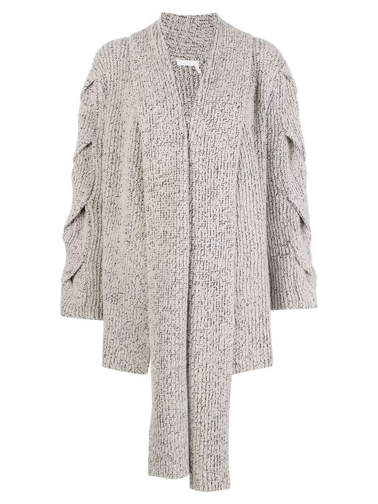 See By Chloé draped scarf detail cardigan - Neutrals