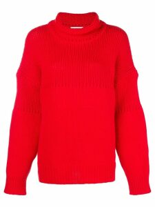 Jil Sander chunky knit jumper - Red