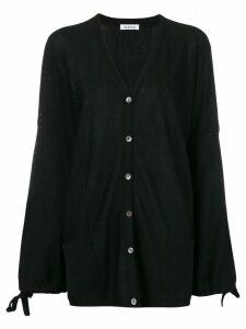 P.A.R.O.S.H. fine knit oversized cardigan - Black