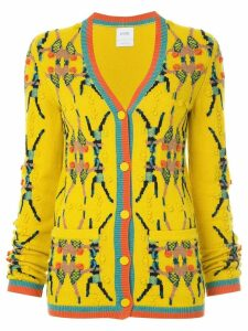 Barrie Chessboxing cashmere cardigan - Yellow