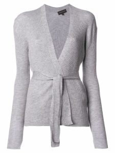 Cashmere In Love cashmere belted cardigan - Grey