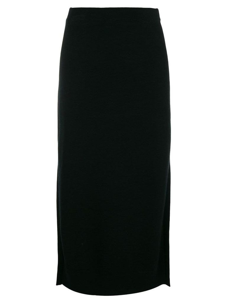 Pringle Of Scotland knitted midi skirt - Black