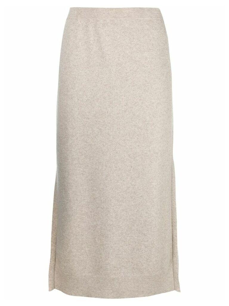 Pringle Of Scotland knitted midi skirt - Neutrals