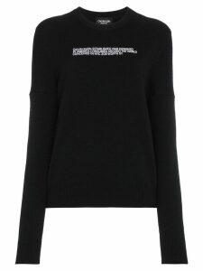Calvin Klein 205W39nyc Embroidered Logo Pullover - Black
