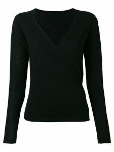 Sottomettimi wrap V-neck jumper - Black