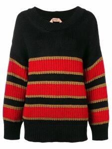Nº21 oversized striped sweater - Black