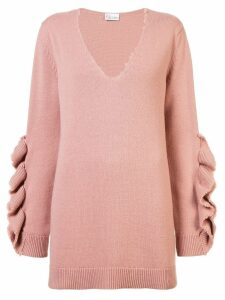 Red Valentino ruffled appliqué jumper - Pink