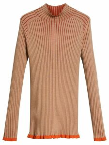 Burberry Silk Cashmere Turtleneck Sweater - Brown