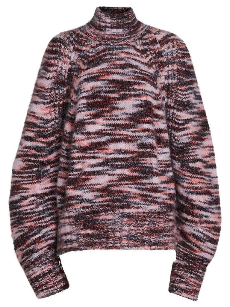 Burberry Cashmere Silk Mouliné Sweater - Multicolour