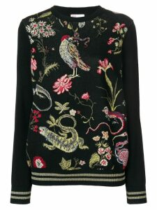 Red Valentino casual patterned sweater - Black