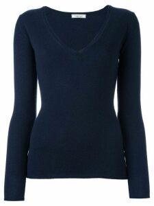 Fashion Clinic Timeless long sleeved v-neck - Blue