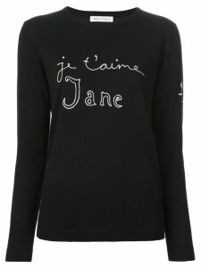 Bella Freud 'Je t'aime Jane' sweater - Black