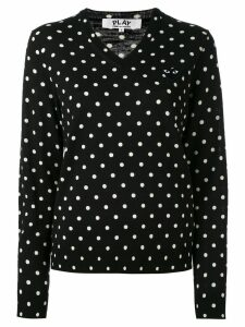 Comme Des Garçons Play polka dot knitted sweater - Black
