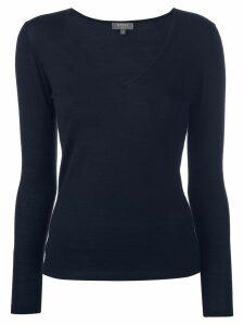N.Peal cashmere plain top - Blue