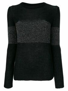 Cashmere In Love cashmere Vivien lurex stripe jumper - Black
