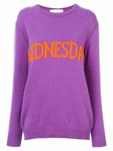Alberta Ferretti Wednesday intarsia jumper - Purple