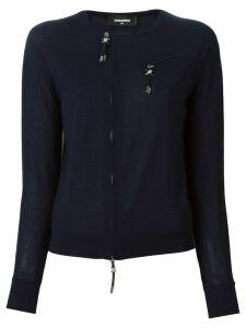 Dsquared2 zip accent pullover - Blue