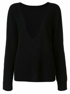 RtA cashmere deep V-neck jumper - Black