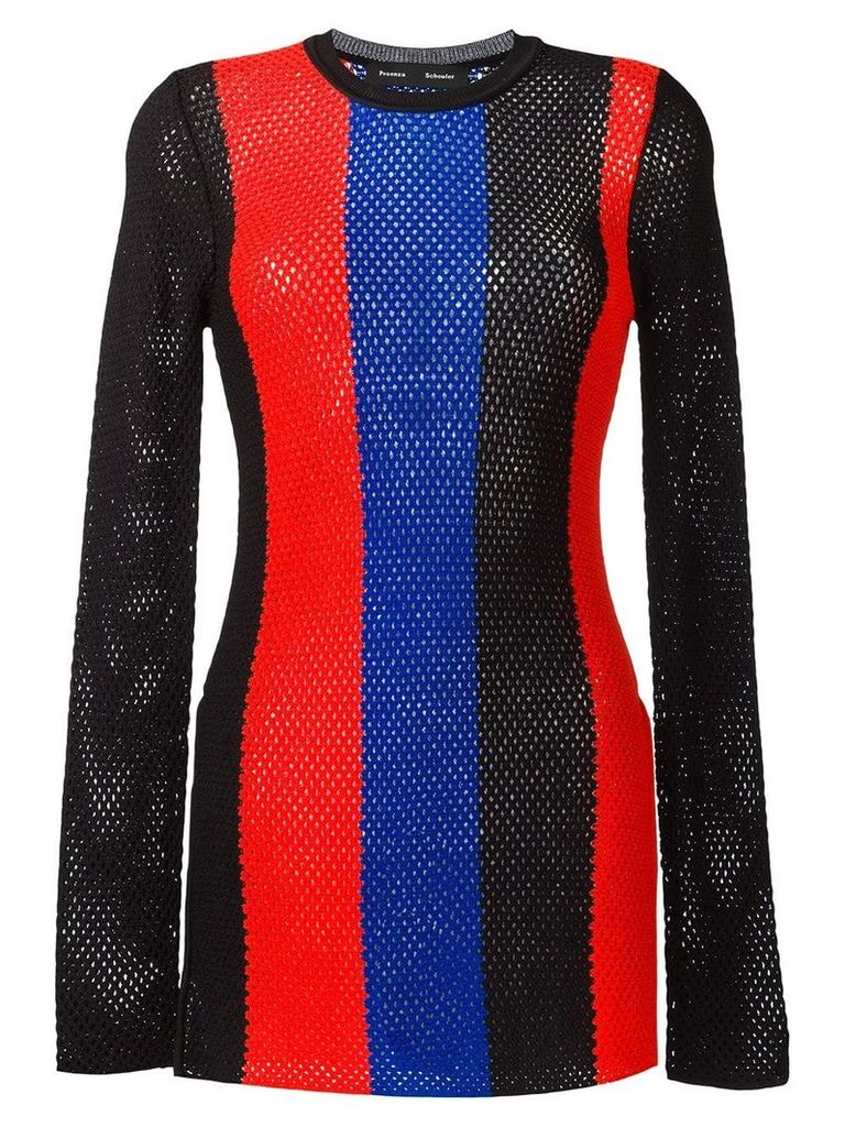 Proenza Schouler striped mesh jumper - Multicolour