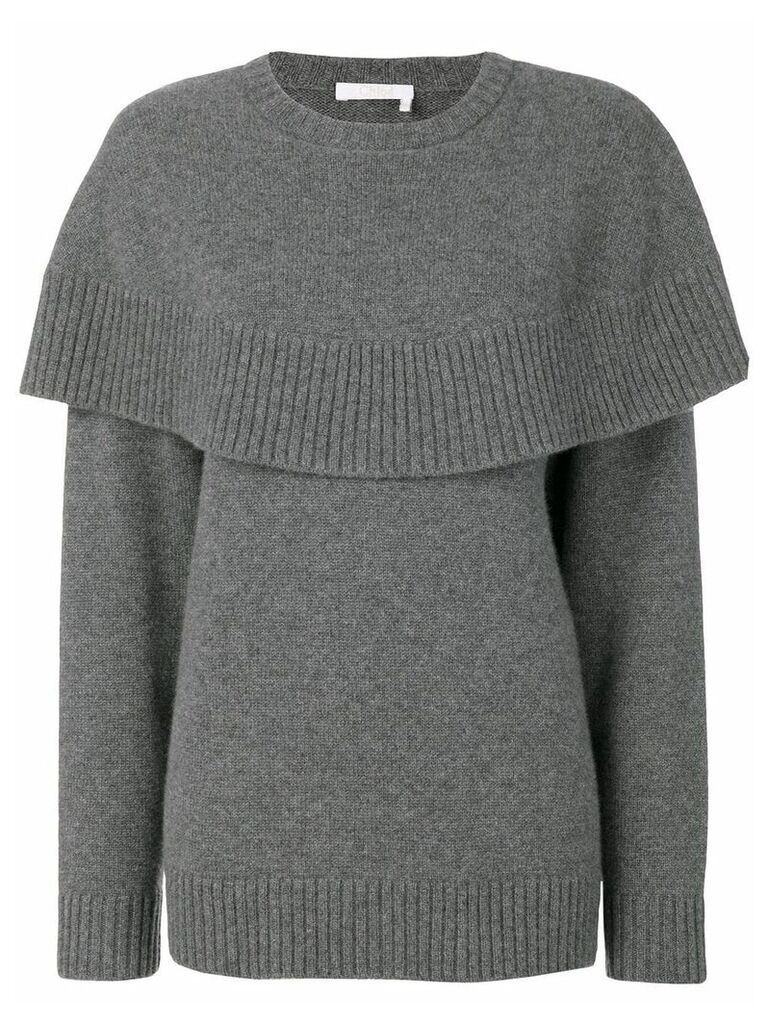 Chloé cape knitted sweater - Grey