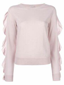 Agnona ruffle trim jumper - Pink