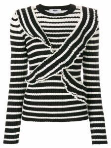 MSGM striped jumper - Black
