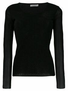 D.Exterior round neck jumper - Black