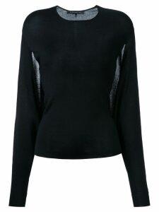 Barbara Bui sheer detail jumper - Black