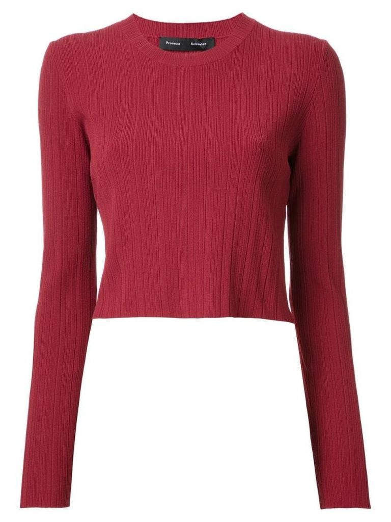 Proenza Schouler cropped ribbed jumper - Red