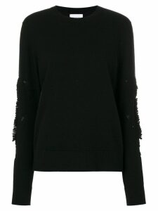 Barrie Romantic Timeless cashmere round neck pullover - Black